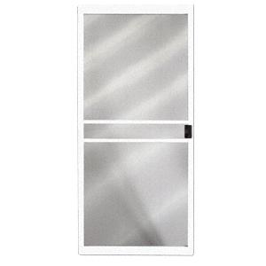 "CRL 10211015 Columbia White 48"" x 80"" CM Supreme Sliding Screen Door - Bulk"