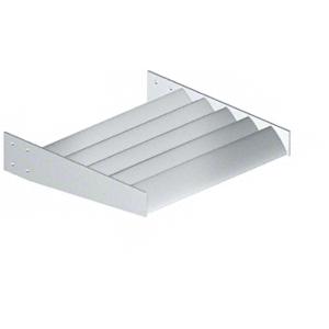 """CRL AX08SM Silver Metallic 8"""" Airfoil Blade - 146"""" Length"""