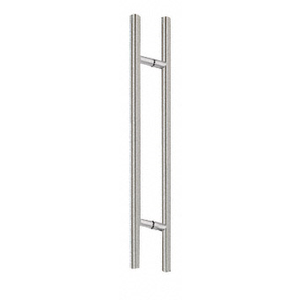 "CRL 36LPBS Brushed Stainless 36"" Extra Length Ladder Style Back-to-Back Pull Handle"