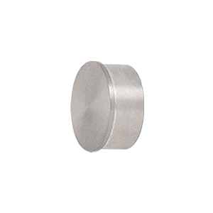 "Brushed Stainless Flat End Cap for 1-1/2"" Round Tubing"