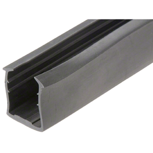 "CRL GRRF2021PV Roll Form Cap Rail Black Rubber Insert for 27/32"" (21.52 mm) Laminated Glass"