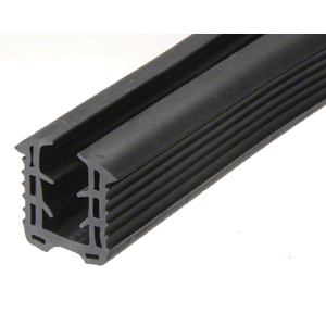 "CRL GRRF2013PV Roll Form Cap Rail Black Rubber Insert for 1/2"" (12 mm) Monolithic Glass and 9/16"" (12 mm) Laminated Glass"