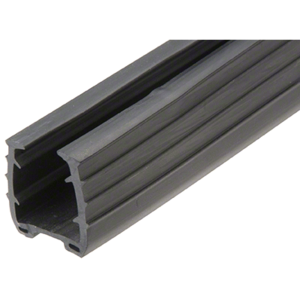 "CRL GRRF2017PV Roll Form Cap Rail Black Rubber Insert for 5/8"" (15 mm) Monolithic Glass and 11/16"" (17.52 mm) Laminated Glass"