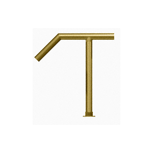 """Polished Brass Elegant 126 Series 2"""" Tubing Glass On Slant and Top Only Sneeze Guard"""