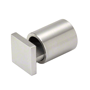 "CRL SAEG114BS Brushed Stainless 1-1/4"" Square Cap Adjustable Edge Grip"
