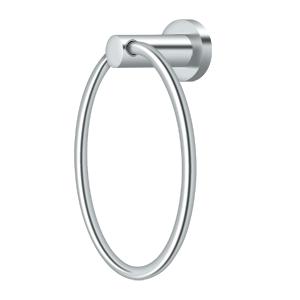 "Deltana BBN2008-26 6"" Diameter Nobe Series Towel Ring Chrome"