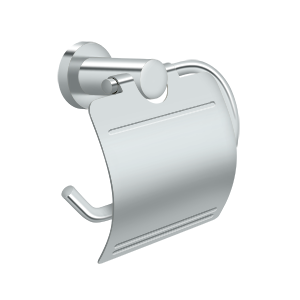 Deltana BBN2011-26 Nobe Series C Shaped Toilet Paper Holder With Cover Plate Chrome