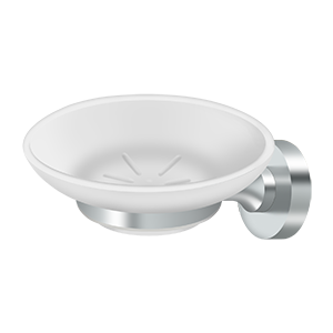 Deltana BBN2012-26-XCP10 Soap Holder w/Glass, Nobe Series - pack of 10