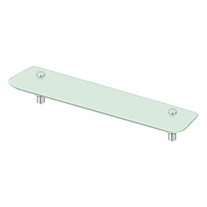 "Deltana BBS2750-26 27-5/8"" Length Sobe Series Frosted Glass Shampoo Shelf Chrome"
