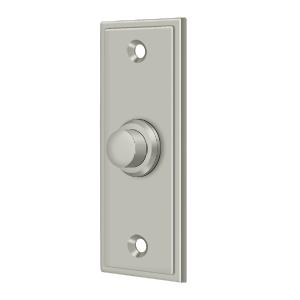 """Deltana BBS333U15 3-1/4"""" Height X 1-1/4"""" Width Contemporary Rectangular Bell Button Satin Nickel"""