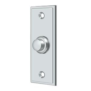 "Deltana BBS333U26 3-1/4"" Height X 1-1/4"" Width Contemporary Rectangular Bell Button Polished Chrome"