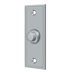 """Deltana BBS333U26D 3-1/4"""" Height X 1-1/4"""" Width Contemporary Rectangular Bell Button Brushed Chrome"""