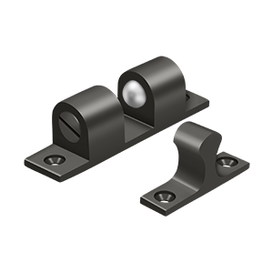"""Deltana BTC30U10B 3"""" Base Length Accessory Double Ball Tension Catch Oil Rubbed Bronze"""