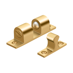 """Deltana BTC30CR003 3"""" Base Length Accessory Double Ball Tension Catch Lifetime Polished Brass"""
