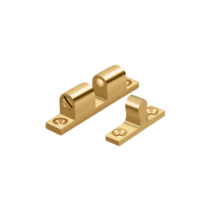 """Deltana BTC10CR003 1-7/8"""" Base Length Accessory Double Ball Tension Catch Lifetime Polished Brass"""