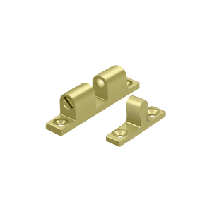 "Deltana BTC10U3 1-7/8"" Base Length Accessory Double Ball Tension Catch Polished Brass"