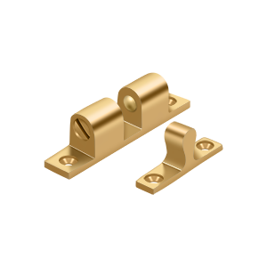 """Deltana BTC20CR003 2-1/4"""" Base Length Accessory Double Ball Tension Catch Lifetime Polished Brass"""