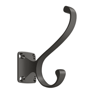 """Deltana CAHH35U10B 3-3/8"""" Height Heavy Duty Coat And Hat Hook Oil Rubbed Bronze"""