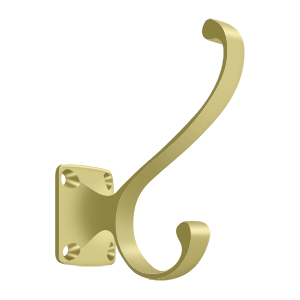"""Deltana CAHH35U3 3-3/8"""" Height Heavy Duty Coat And Hat Hook Polished Brass"""