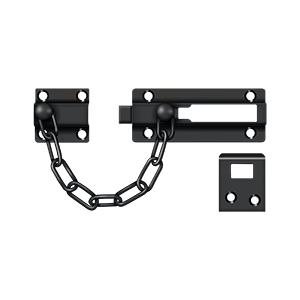"""7"""" Chain Length Door Guard Chain Doorbolt Paint Black"""