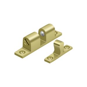 "Deltana BTC20U3 2-1/4"" Base Length Accessory Double Ball Tension Catch Polished Brass"
