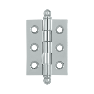 """Deltana CH2015U26 2"""" Height X 1-1/2"""" Width Full Inset Cabinet Butt Hinge With Ball Tip Polished Chrome"""