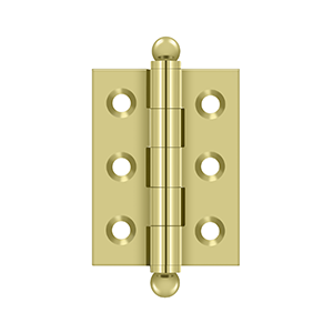 "Deltana CH2015U3 2"" Height X 1-1/2"" Width Full Inset Cabinet Butt Hinge With Ball Tip Polished Brass"