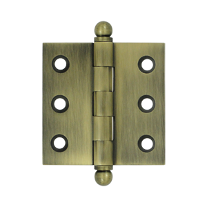 """Deltana CH2020U5 2"""" Height X 2"""" Width Full Inset Cabinet Butt Hinge With Ball Tip Antique Brass"""