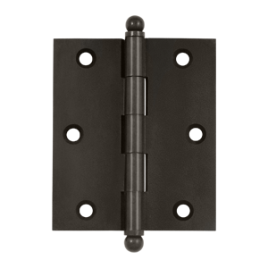 """Deltana CH3025U10B 3"""" Height X 2-1/2"""" Width Full Inset Cabinet Butt Hinge With Ball Tip Oil Rubbed Bronze"""