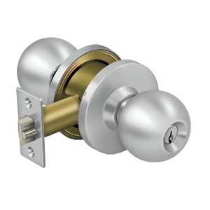 Deltana CL100EAC-32D Pro Series Commercial Grade 2 Round Door Knob Entry Standard Stainless Steel