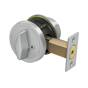"Deltana CL200LA-32D 2-5/8"" Diameter Pro Series Grade 2 Commercial Deadbolt Single Cylinder Stainless Steel"