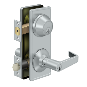 Deltana CL300ILC-26D Clarendon Grade 2 Interconnected Door Lever Entry Brushed Chrome