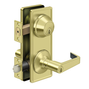 Deltana CL300ILC-3 Clarendon Grade 2 Interconnected Door Lever Entry Polished Brass