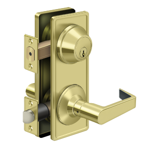 Deltana CL308ILC-3 Clarendon Grade 2 Interconnected Door Lever Passage Polished Brass