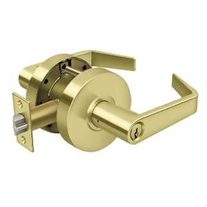 Deltana CL500EVC-3 Clarendon Pro Series Grade 2 Commercial Straight Leverset Entry W/CYL Polished Brass