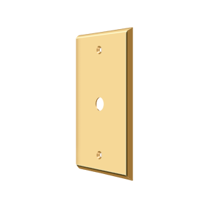 Deltana CPC4764CR003 Switch Plate Cover 1 Cable Lifetime Polished Brass