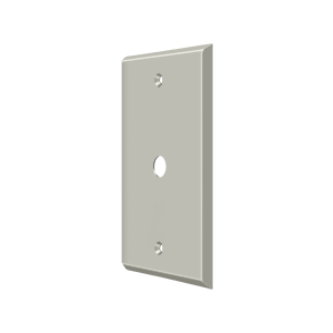 Deltana CPC4764U15 Switch Plate Cover 1 Cable Satin Nickel