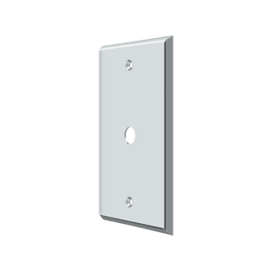 Deltana CPC4764U26 Switch Plate Cover 1 Cable Polished Chrome