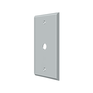 Deltana CPC4764U26D Switch Plate Cover 1 Cable Brushed Chrome