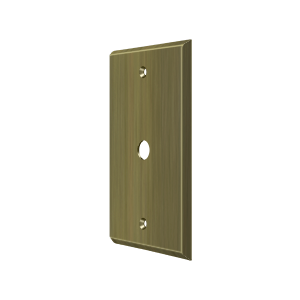 Deltana CPC4764U5 Switch Plate Cover 1 Cable Antique Brass