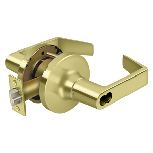 Deltana CL504FRCNC-3 Clarendon Pro Series Grade 1 Commercial Leverset Storeroom Without CYL Polished Brass