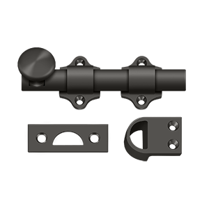 "Deltana DDB425U10B 4"" Length Heavy Duty Dutch Door Bolt Oil Rubbed Bronze"