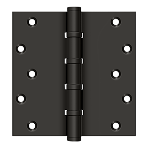 "Deltana DSB66BB10B 6"" Height X 6"" Width Square Corner Ball Bearing Full Mortise Hinge 4BB Option Oil Rubbed Bronze Pair"