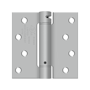 "4"" Height X 4"" Width UL Listed Square Corner Mortise Spring Hinge Square Corner Satin Stainless Steel"