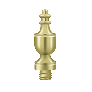 """Deltana DSUT3 1-3/8"""" Height Urn Tip Decorative Finials For Hinges Polished Brass"""