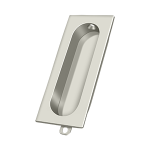 "Deltana FP222U14 3-1/8"" Height X 1-5/16"" Width Rectangular Accessory Flush Pull Polished Nickel"