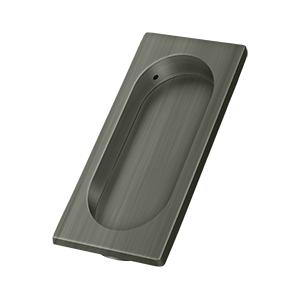 "3-7/8"" Height X 1-5/8"" Width Pocket Door Large Flush Pull Antique Nickel"