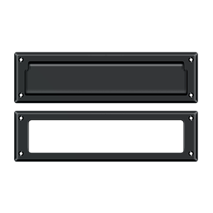 """Deltana MS211U19 13-1/8"""" Length X 3-5/8"""" Height Door Mail Slot With Interior Frame Paint Black"""