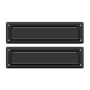 """Deltana MS212U19 13-1/8"""" Length X 3-5/8"""" Height Door Mail Slot With Interior Flap Paint Black"""