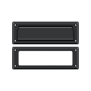 """Deltana MS626U19 8-7/8"""" Length X 2-7/8"""" Height Door Mail Slot With Interior Frame Black"""